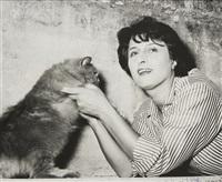 anna magnani con gatto (anna magnani with cat) by guglielmo coluzzi