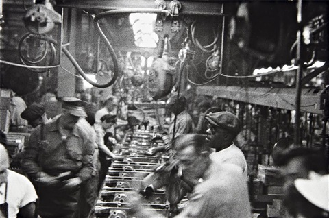 assembly line detroit by robert frank