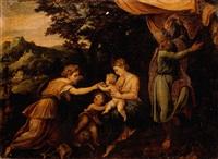 the mystic marriage of saint catherine by lambert sustris