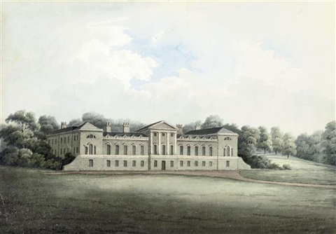 view of woburn abbey bedfordshire 3 others 4 works by hubert cornish