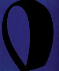 chromatisme binaire bleu-noir by fernand leduc