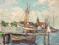 nördlicher fischerhafen by otto lang-wollin