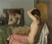 femme à sa toilette by nikolai sokolov