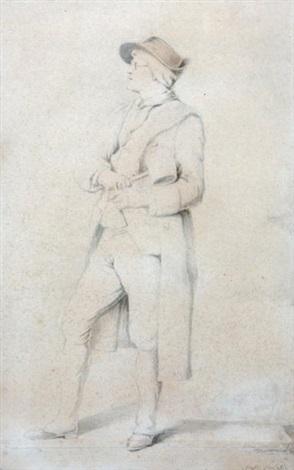 portrait du sculpteur en pied son maillet à la main by jean guillaume moitte