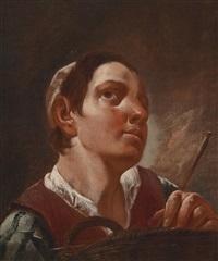 ein junger mann mit einem korb by giovanni battista piazzetta