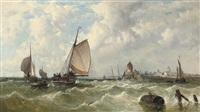 A breezy day off the Low Countries, 1860