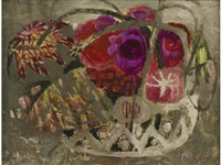 red flowers by mary fedden