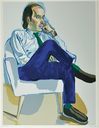 avedisian and hartley (2 works) by alice neel