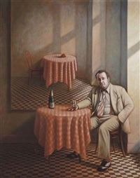 portrait of peter langan by guy gladwell