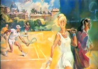 le tennis by guennadi petrigine-rodionov