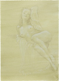 nude with open nightie by john currin