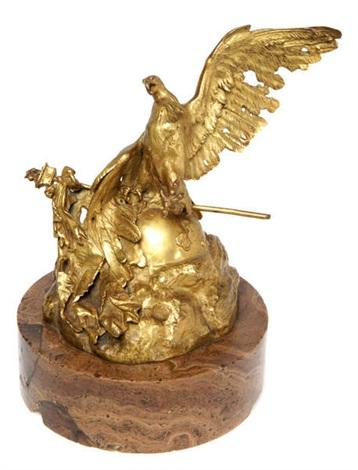 l'aigle expirant à waterloo by jean-léon gérôme