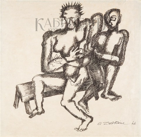 two on the bench by ossip zadkine