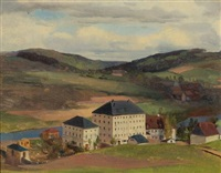 the cotton mill and yarn factory of pansa und hauschild in hohenfichte by heinrich eduard muller