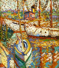 boats at gloucester by hugh henry breckenridge