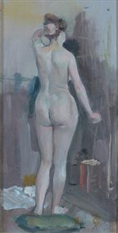 jeune femme à la toilette by alfred roll
