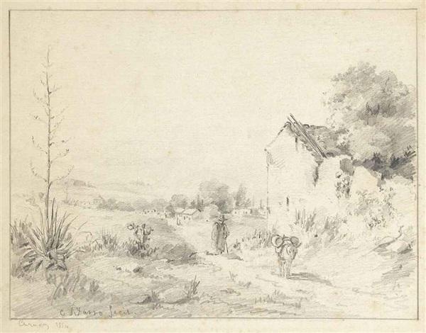 paysage de caracas by camille pissarro
