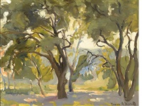 grove of trees by franz arthur bischoff