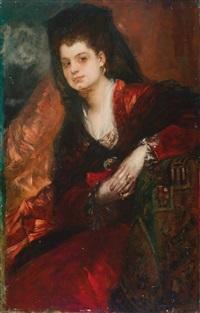 portrait der sängerin emilie tagliana by hans makart