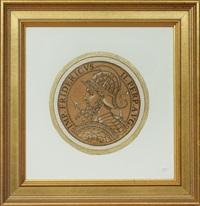 goltzius' beautiful roman coins (icones imperatorum romanorum, expriscis numis matibus ad viuum dilineatoe, and breui narratione historica. anthwerp, 1645) (3 works) by hubert goltzius