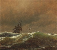 seascape by carl ludwig bille