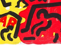 figurative composition by a.r. penck