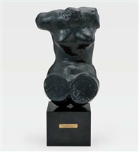 torse féminin assis dit《type a》 by auguste rodin