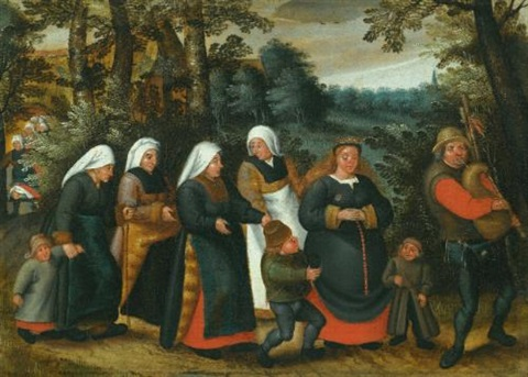 the procession of the bride by pieter brueghel the younger