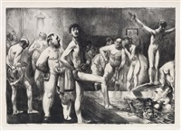 business-men's bath by george wesley bellows