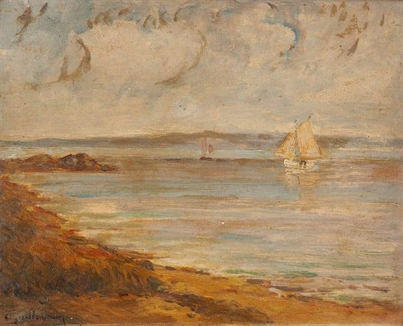 voiliers à saint palais sur mer by armand guillaumin