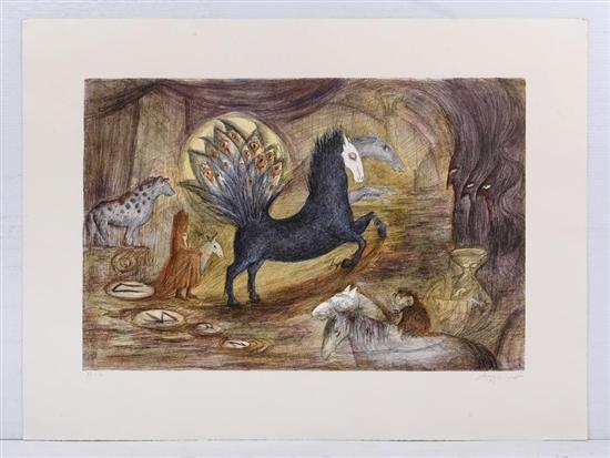 sin título de la carpeta el caballo en papel by leonora carrington