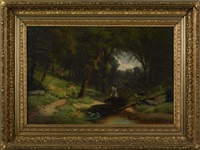 wooded landscape by william g. boardman
