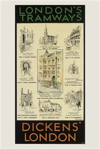 dickens london (poster) by will owen