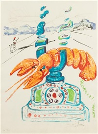 imaginations and objects of the future (suite of 11 with box and text) by salvador dalí