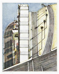 palm ridge, from recent etchings ii by wayne thiebaud