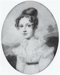 portrait de laure de lamoignon by auguste hesse