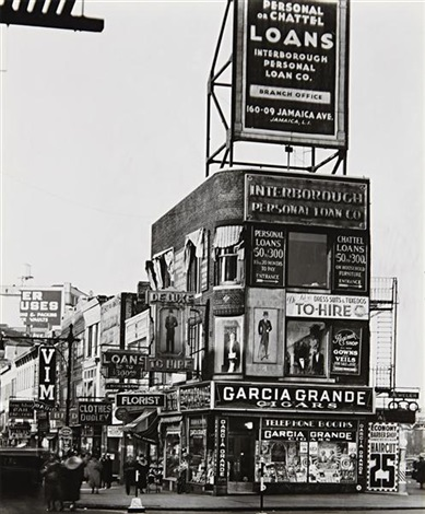 billboards and signs fulton street between state street and ashland place brooklyn by berenice abbott