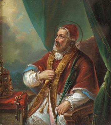 bildnis eines papstes mit palmzweig by maria staubmann