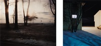 untitled #2840 and untitled #3212-b, 2003 (2 works) by todd hido