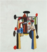 multi-coloured figure iv by george condo