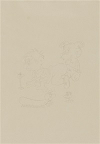 3 children drawings by ugo rondinone