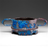 handled vessel and stand by anne hirondelle
