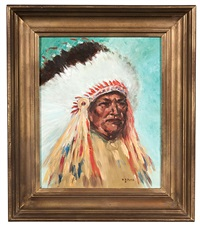 portrait of a chief by dorothy dunn
