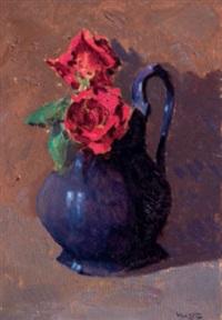 coccio con rose by angiolo volpe