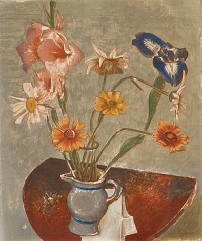 stilleben med blomster by georg jacobsen