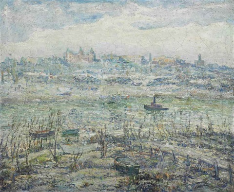 the harlem river by ernest lawson