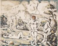 les baigneurs by paul cézanne