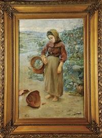 menina com bilha partida by acacio lino de magalhaes