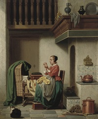 doing the needlework by charles joseph grips