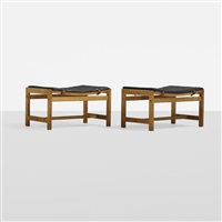 stools (pair) by arne karlsen and peter hjorth